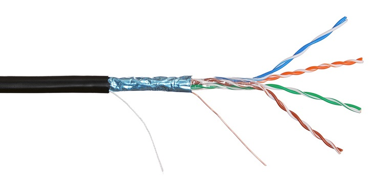 Кабель FTP-5cat.4pair24AWG внешний медь